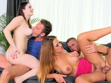 Russian Nana and czech Nicole Vice babes having euro sex party in the hotel