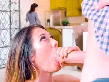 Porn star Eva Lovia gives a lesson in acting for Danny and his monster cock